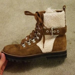 Steve Madden brown lacie shearing boots